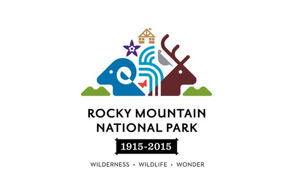 Rocky Mountain National Park Centennial Logo by Christopher Dina, via Behance