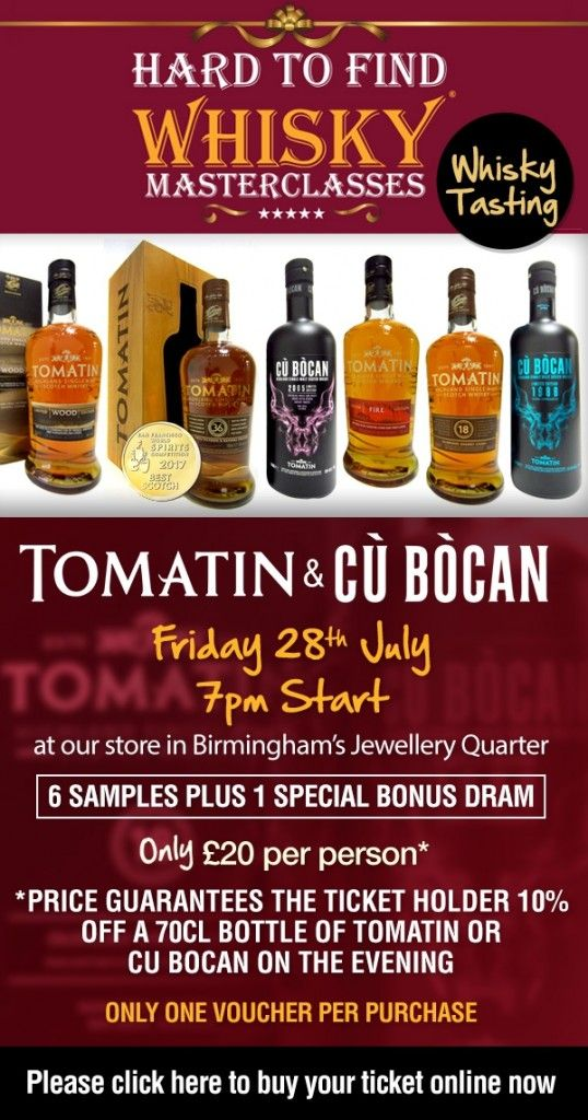 "Join 7 people right now at ""WhiskyIntelligence.com » Blog Archive » Tomatin Masterclass @ Hard To Find Whisky Friday July 27th, 2017 –…"