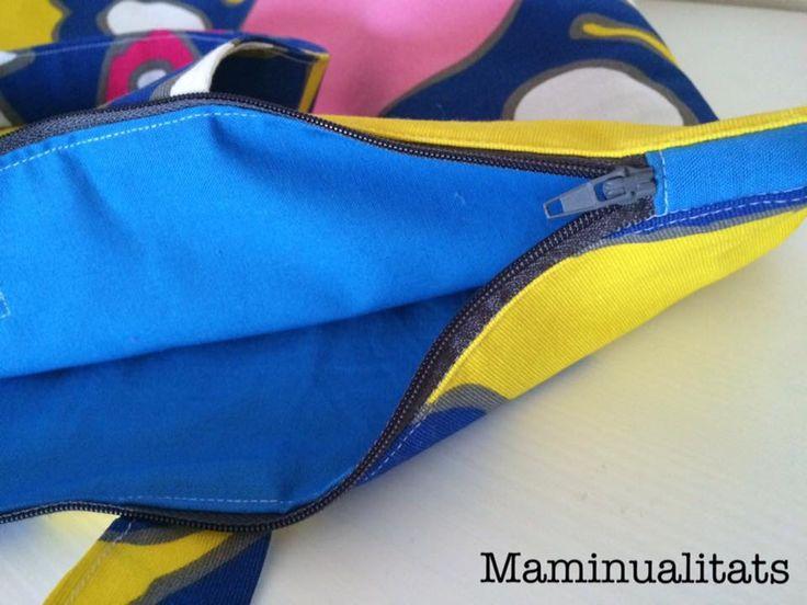 #Bolso #totebag con #cremallera, tela #patchwork. #Zipperbag #bag #tote #bolsototebag  #maminualitats #handmade #madewithlove #bolsaplaya
