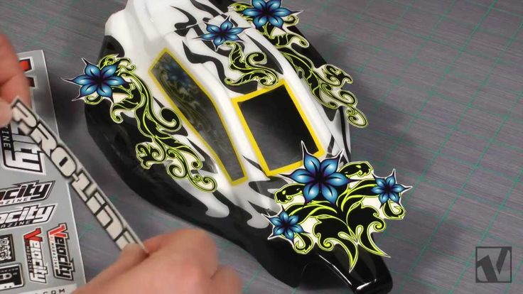 How-to RC Car Body Painting with Stickers - VRC Magazine - YouTube
