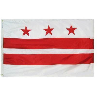 Annin Flagmakers District of Columbia Flag Size: 4' x 6'