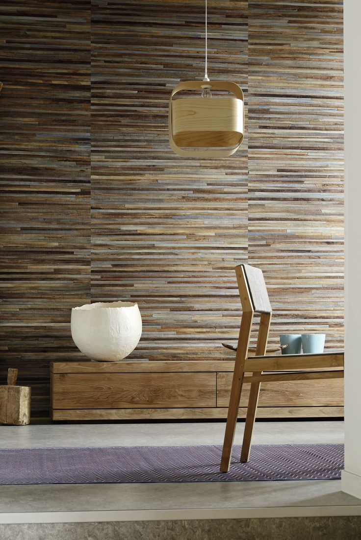 Robinson collection - wallcovering 100% handmade wallcovering. Abaca material.  Each production is unique, and one linear meter takes a full work day to produce. useful width 110cm #wallcovering, #elitis, #abaca, #wood, #wall, #handmade, #natural