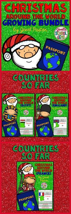 CHRISTMAS AROUND THE WORLD (GROWING BUNDLE)  Save $$$ and engage your students this Christmas season with my Christmas Around the World Growing Bundle! This is a growing bundle of Christmas Around the World Research Flipbooks on 10 countries.   The countries in this Christmas Around the World bundle so far are: Egypt England France  Coming soon are India, Japan, Australia, Kenya, Norway, Italy and Mexico! The earlier you purchase this Christmas Around the World bundle, the MORE YOU SAVE!