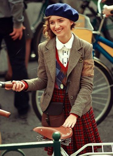 Tweed run. I love this outfit.