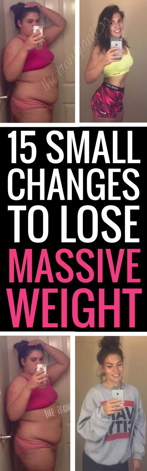 15 tiny changes to lose big weight fast.