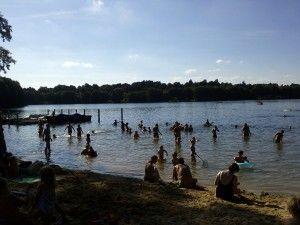 Badestelle am Groß Glienicker See