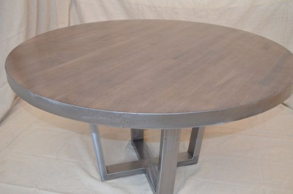 Round Industrial Dining Room Table By MetalTreeFurniture On Etsy 899