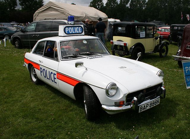 MGBGT 1971 Police Car.