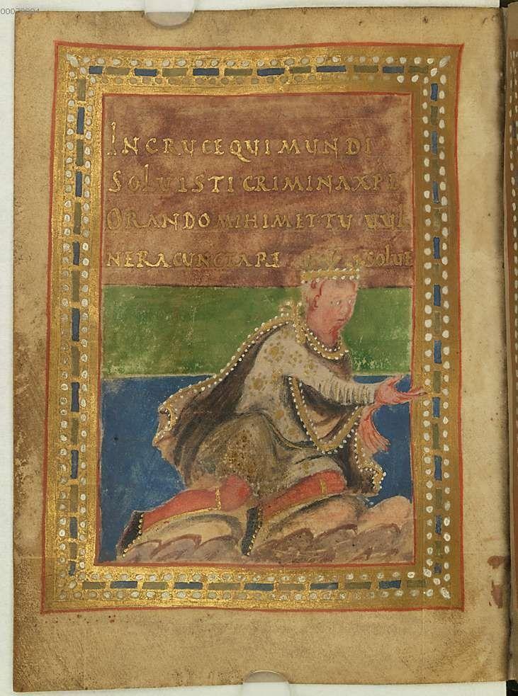 Munich Bayerische Staatsbibliothek, Gebetbuch Karls des Kahlen, ResMü Schk 4 WL, fol. 38v
