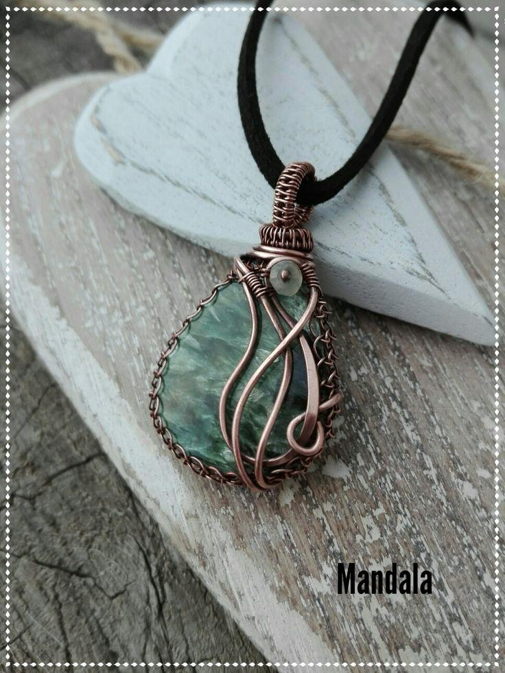 Seraphinite copper jewelry by Mandala
