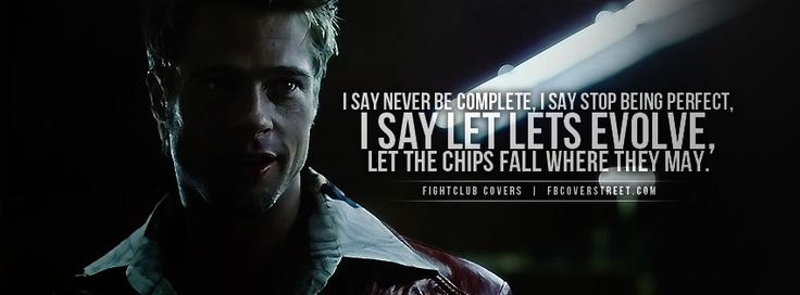 Fightclub Never Be Complete Quote Wallpaper