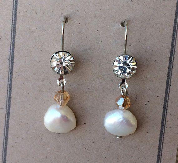 PEARL earrings Mother of the Bride earrings by BeachwoodStreet