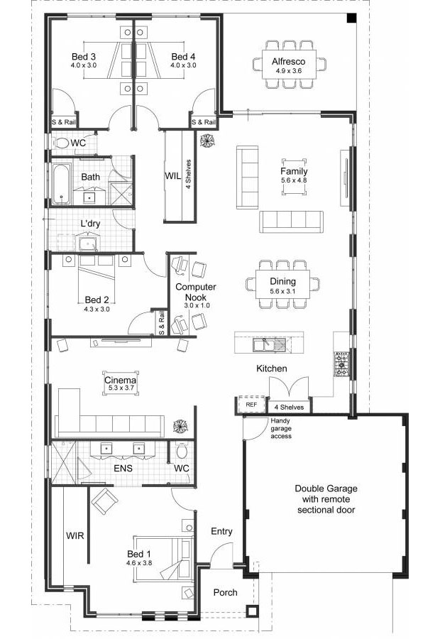 1-storey single detached house