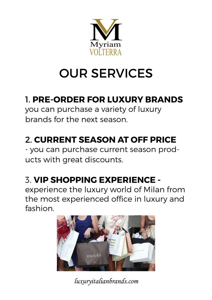 Myriam Volterra - The Italian Buying Office for Fashion & Luxury provides the best service to accomplish the successful trade. Find more information luxuryitalianbrands.com