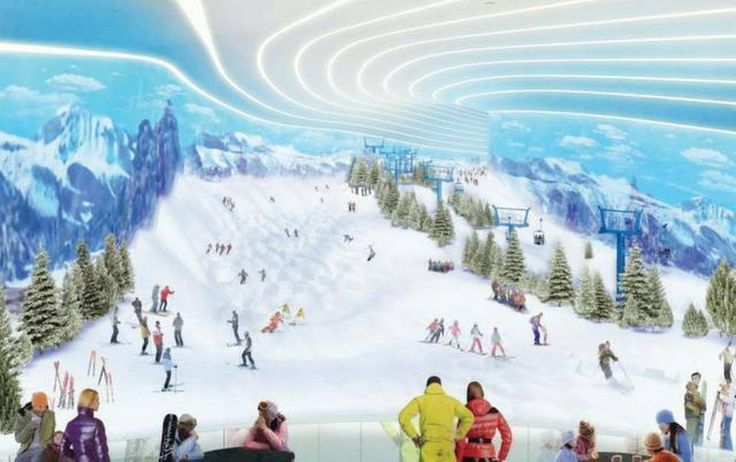 An artist's rendering of a ski slope planned for a corner American Dream Miami, a 200-acre entertainment and retail complex planned Northwest Miami-Dade County. Proposed by the company behind Minnesota's Mall of America, it's described as big enough to qualify as the largest mall in the United States.
