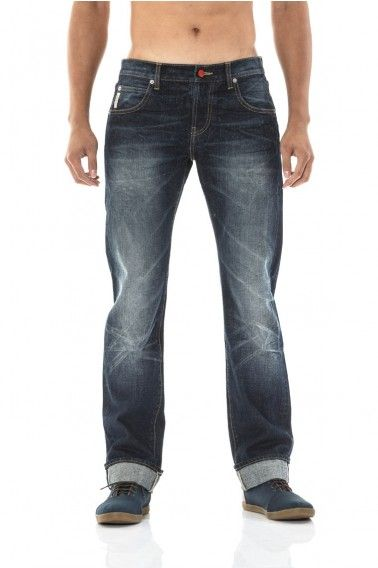 ride out the week. cuffed selvedge jeans in indigo. twist-washed with knee-bow details. hand shaved.