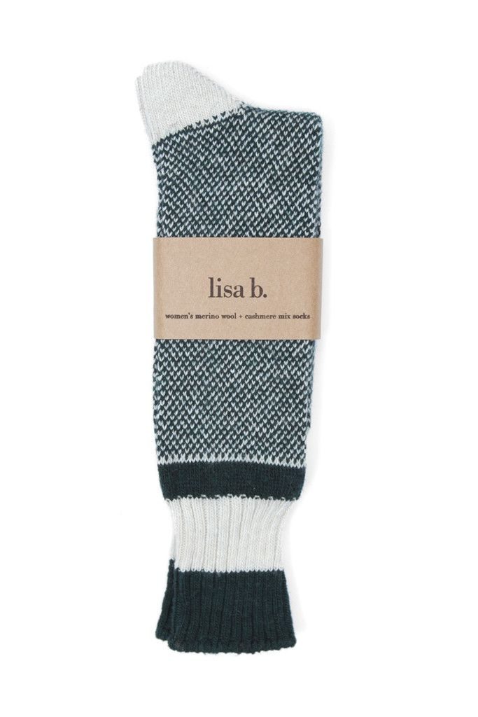 A new fall favorite, Lisa B's birds eye socks take inspiration from vintage wool socks, minus the itch. Super soft and slouchy, they pair nicely with well worn leather boots. Fine Italian yarn blend o