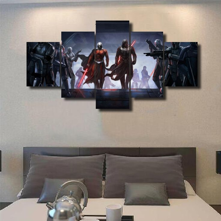 New Hot Sel 5 Pcs Print Picture Poster Star Wars Painting Canvas Wall Art  Picture Home. Living Room ... Part 89