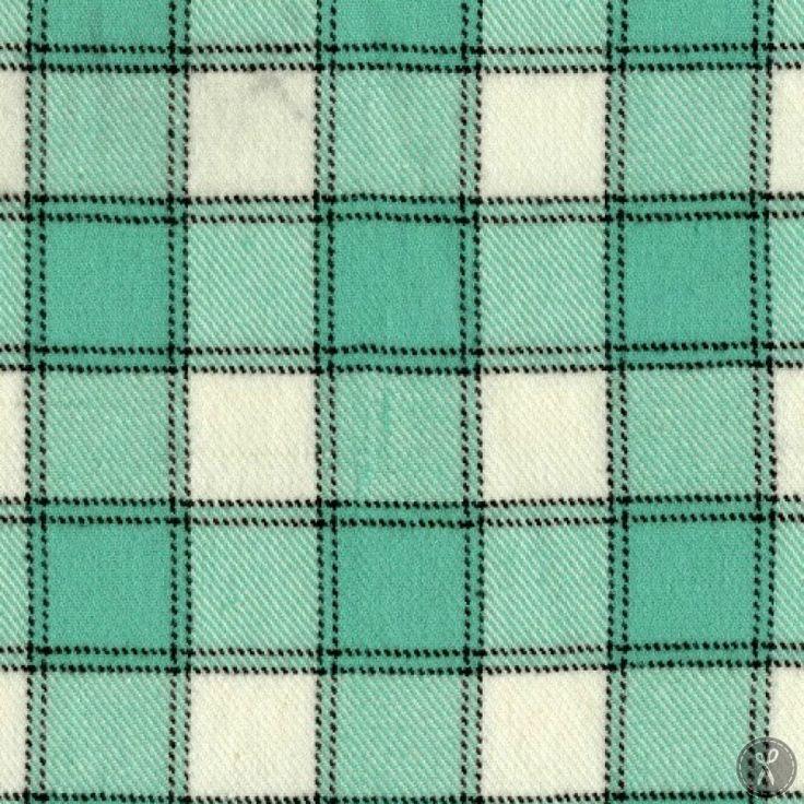 Primo Plaid Flannel Fabric Windowpane Plaid - Teal