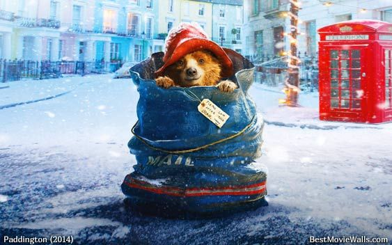 Paddington in a mail bag on Christmas in London :]