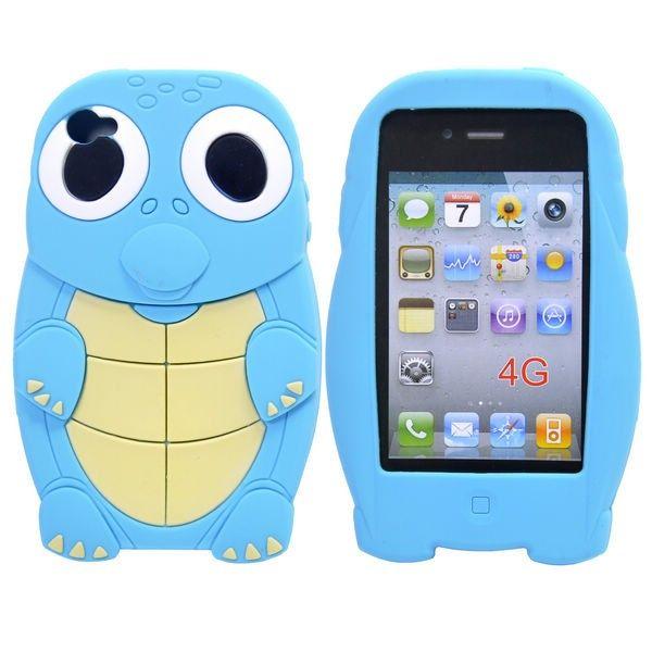 Kilpikonna (Vaaleansininen) iPhone 4S Silikonisuojus