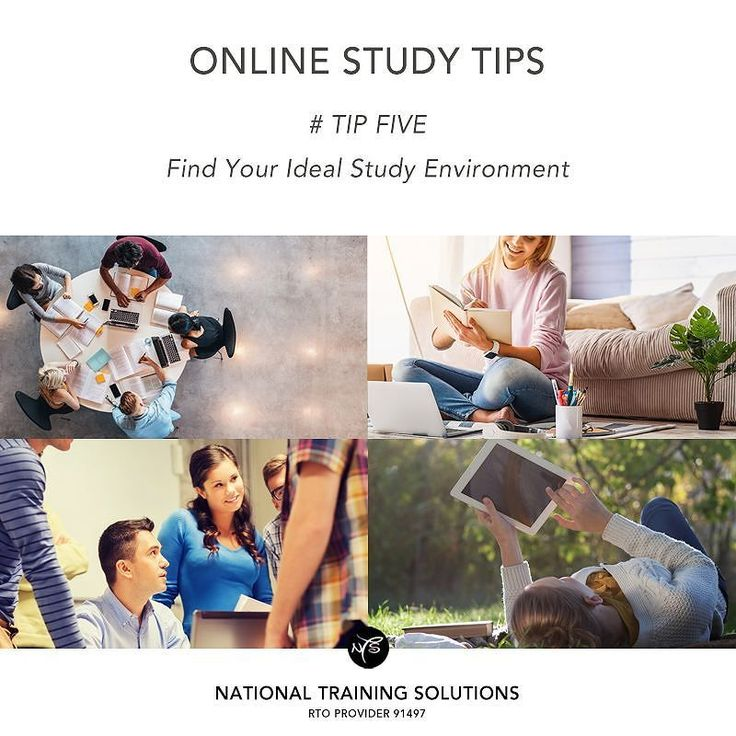 With online studying you can take your laptop anywhere. Choose the location that helps you focus and feel the most motivated. This may be indoors or outdoors in a public place or in your own bedroom. www.ntsn.edu.au