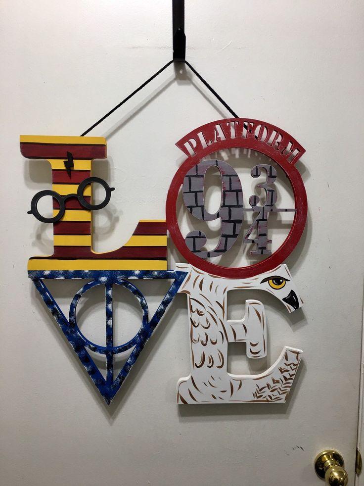Hand Painted Harry Potter Inspired Door Hanger, Harry Potter Wall Art