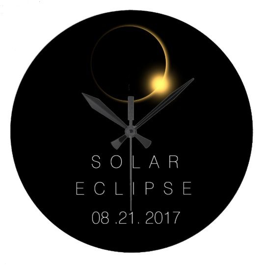 American Total Solar Eclipse 2017 Large Clock