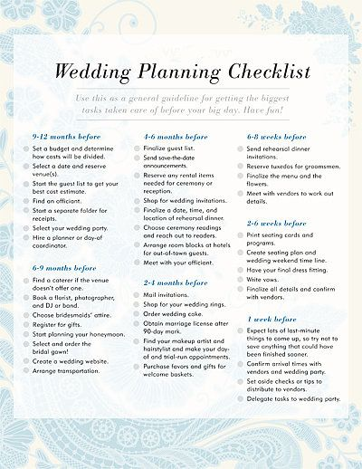 Wedding Planning Checklist: Have a wedding coming up? .