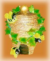clay pot beehive: Beepot 35K, Pot Beehive, Fun Crafts, Bumble Bees, Clay Pots Flower, Pot Crafts, Claypots, Beehive Decoration