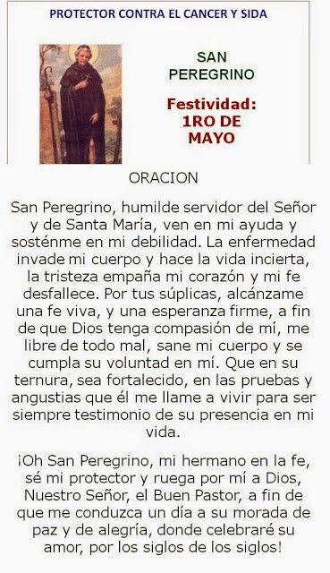 San Peregrino, protector contra el cáncer.