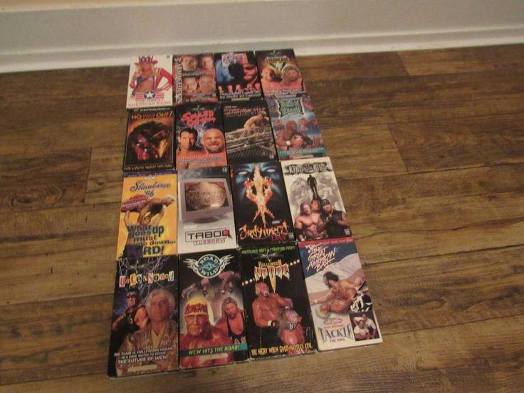 WWE WOW Vintage Vhs Lot of 16 Wrestling Videos Kane Shawn Michaels Hulk Hogan Nash Goldberg Etc BUY IT NOW