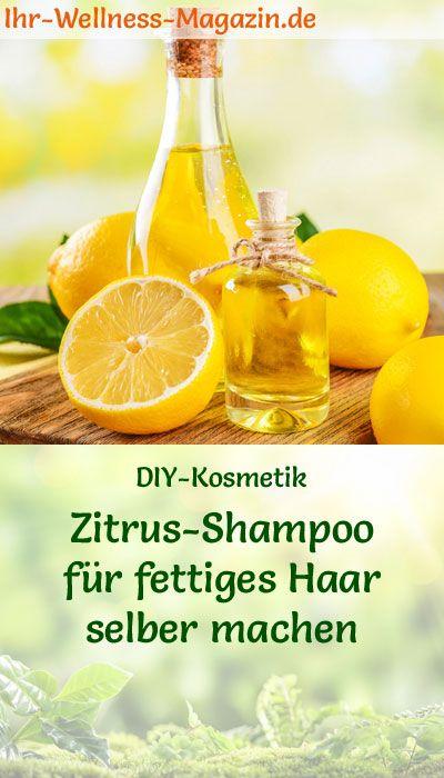Shampoo selber machen – Rezept: Seifenkraut-Zitronen Shampoo für fettiges Haar