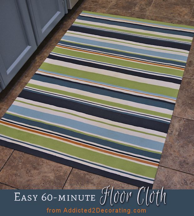 DIY:  Make An Easy Floor Cloth In 60 Minutes Or Less Looks very do-able. Maybe even for Gatsby!