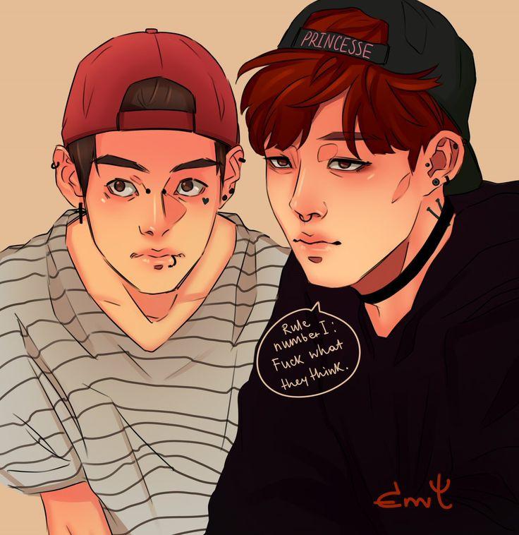 Vmin [V & Jimin] beautiful fanart by Envy. BTS / Bangtan Boys / 방탄소년단
