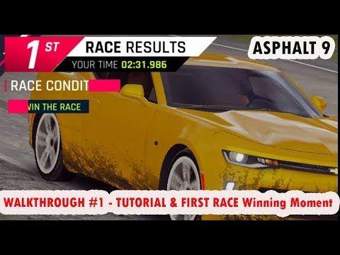 Asphalt 9 Legends WALKTHROUGH 1 TUTORIAL FIRST RACE Win