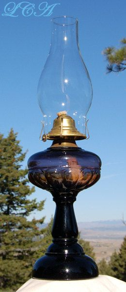 Original working Antique Victorian OIL LAMP beautiful by plowgirl, $150.00
