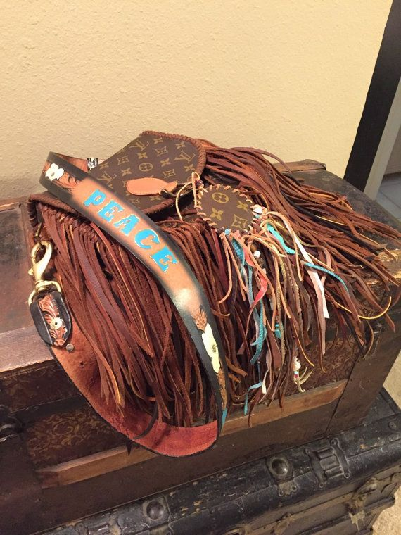 Fern Fringed Boho Louis Vuitton Med Cross Body by Ne22 on ...