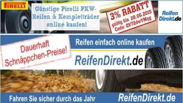 Reifen Rabattcode für Deutschland. 3% Rabatt auf Pirelli PKW-Reifen und Kompletträder