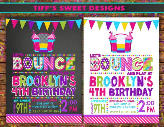 Bounce House Party Bounce House Invitation by TiffsSweetDesigns, $10.50