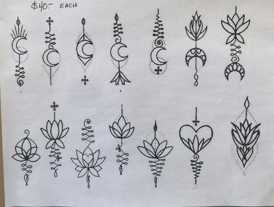 Kleine & zarte Tattoos + 120 Designvorlagen