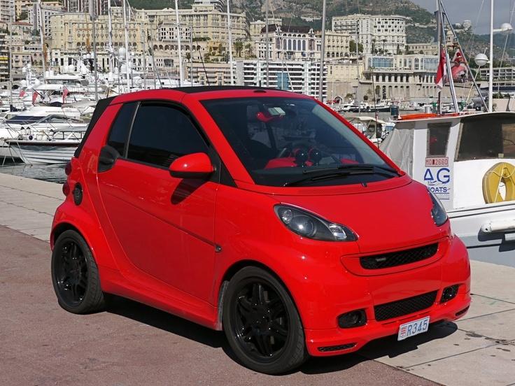 Smart car in Monte Carlo - love the all-red colour scheme. Originating blog:- http://www.montecarlodailyphoto.com/2010/10/brabus-smart.html