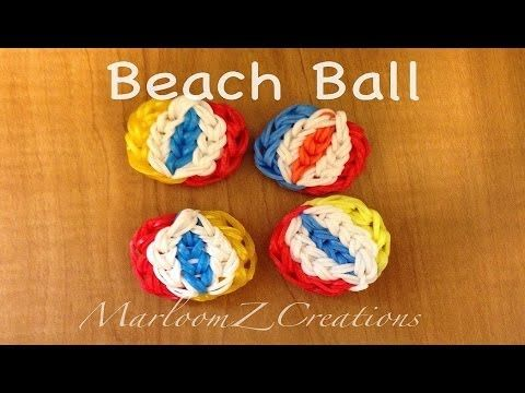 Rainbow Loom BEACH BALL. Designed and loomed by MarloomZ Creations. Click photo for YouTube tutorial.