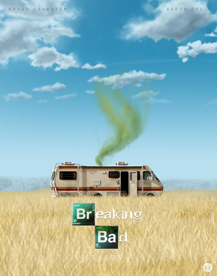 Breaking Bad: Seasons 1-5 posters by Tom Velez in NYC