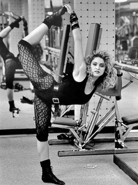 1980: Madonna Louise Veronica Ciccone is renowned as one of world's famous pop divas and frequently referred to as the Queen of Pop Music. It is a well known fact that she loves her yoga and has been practicing for decades ~ the benefits are clear to see