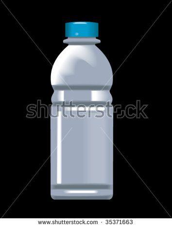 Plastic water bottle #plasticbottle #retro #illustration