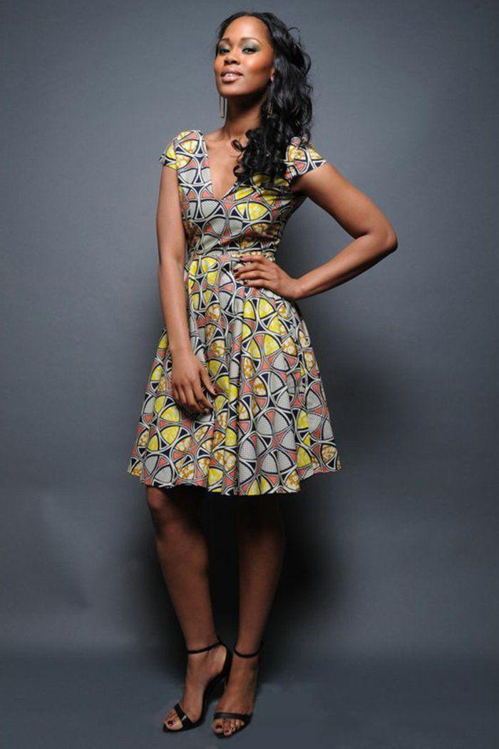 1001+ idées de pagne africain stylé et comment le porter | femme africaine en beauté | Robe ...