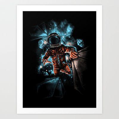 lost in unknown space Art Print by 80kien - $15.90