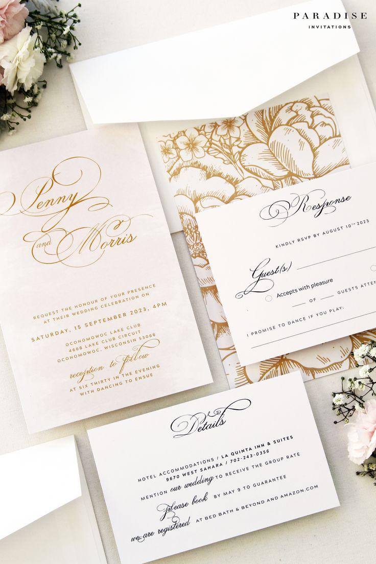 30 best suede wedding invitation images on pinterest gold wedding stationery wedding invitations wedding cards formal masquerade wedding invitations bridal invitations stopboris Gallery