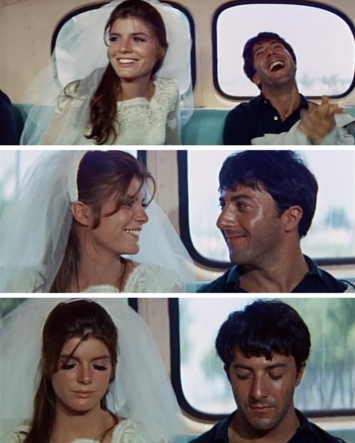 Dustin Hoffman and Katharine Ross in The Graduate (Mike Nichols, 1967)